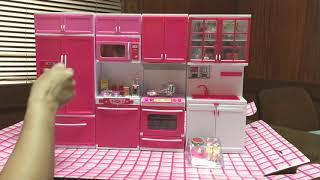 Kids Modern Kitchen Set with Light & Sound