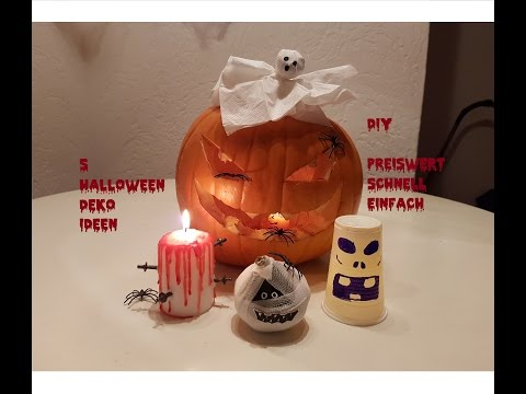 5 Halloween Dekoideen |  Halloween Deko selber machen | Party