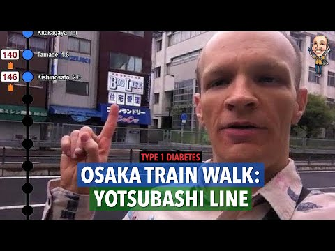 T1 diabetic walk, Yotsubashi line, Osaka