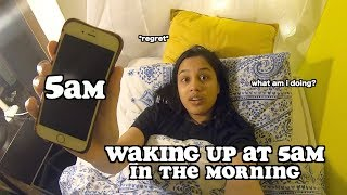 waking up at 5am for a week (ad) | clickfortaz