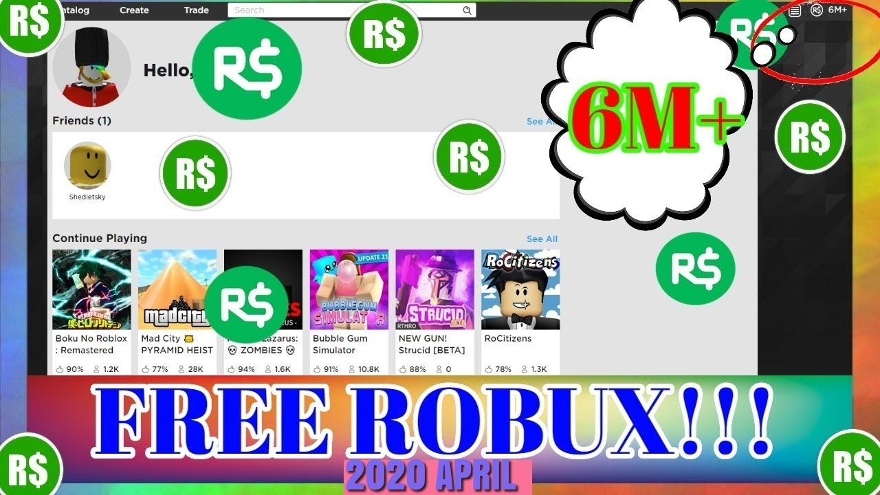 How To Get Free Robux On Roblox 2020 Works April 2020 Youtube