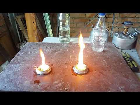 Простая проверка качества керосина для использования как топлива для примуса.