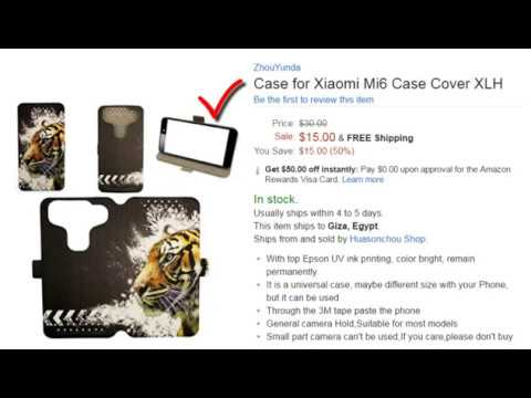 Free Case for Xiaomi Mi6 Case Cover XLH With  Amazon Rewards Visa Card