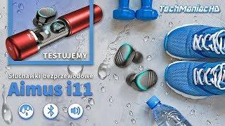 Prawdziwie bezprzewodowe słuchawki Aimus i11 (wodoodporne, douszne, sportowe)