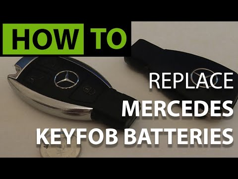 HOW TO Replace Mercedes Key Battery - YouTube