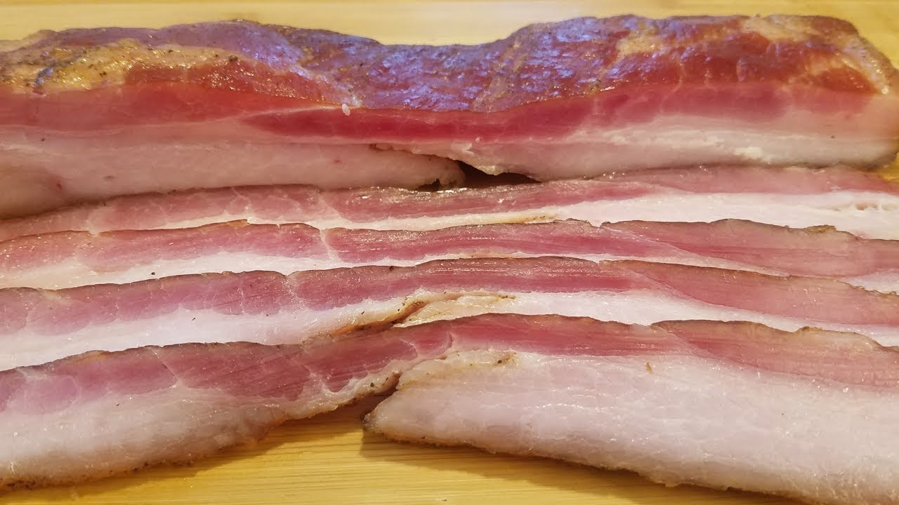 Easy Homemade Bacon - YouTube