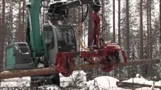 Ekskavatorinė medžių kirtimo galvutė Tapio 400EXS harvester