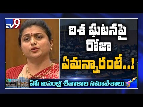 Roja on Disha incident in AP Assembly Session - TV9