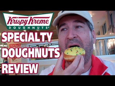 Krispy Kreme Birthday Cake Batter Doughnut REVIEW #NationalDoughnutDay