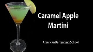 Caramel Apple Martini Cocktail Drink Recipe