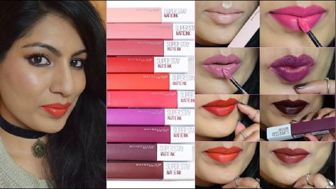 New Maybelline Superstay Matte Ink Liquid Lipstick Review