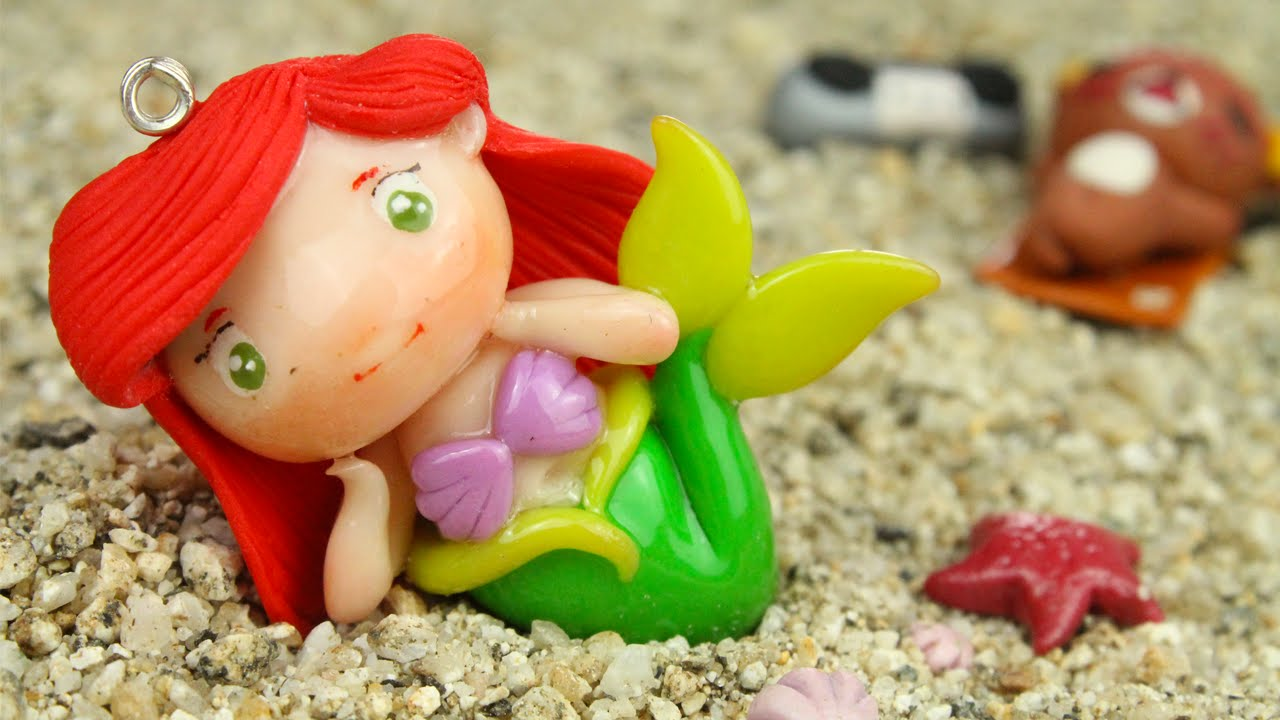 Ariel little mermaid chibi tutorial polymer clay how to youtube baditri Images