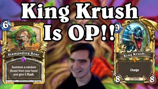 King Krush is OP! Rise of Shadows Rogue Gameplay [Hearthstone]