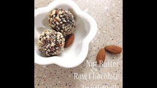 Nut Butter Raw Chocolate Truffle Balls