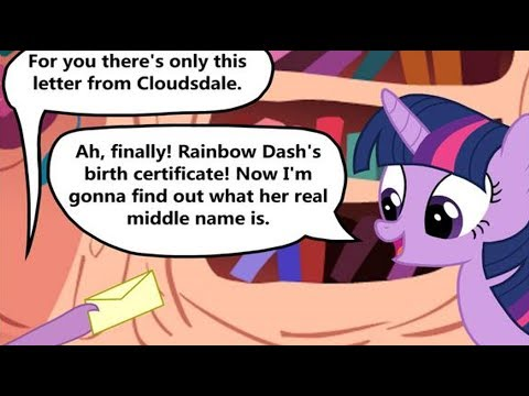 [MLP Comic Dub] Rainbow Dash's Middle Name (comedy)