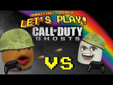 Annoying Orange Let's Play Call Of Duty Ghosts #2: Marshmallow Fight!