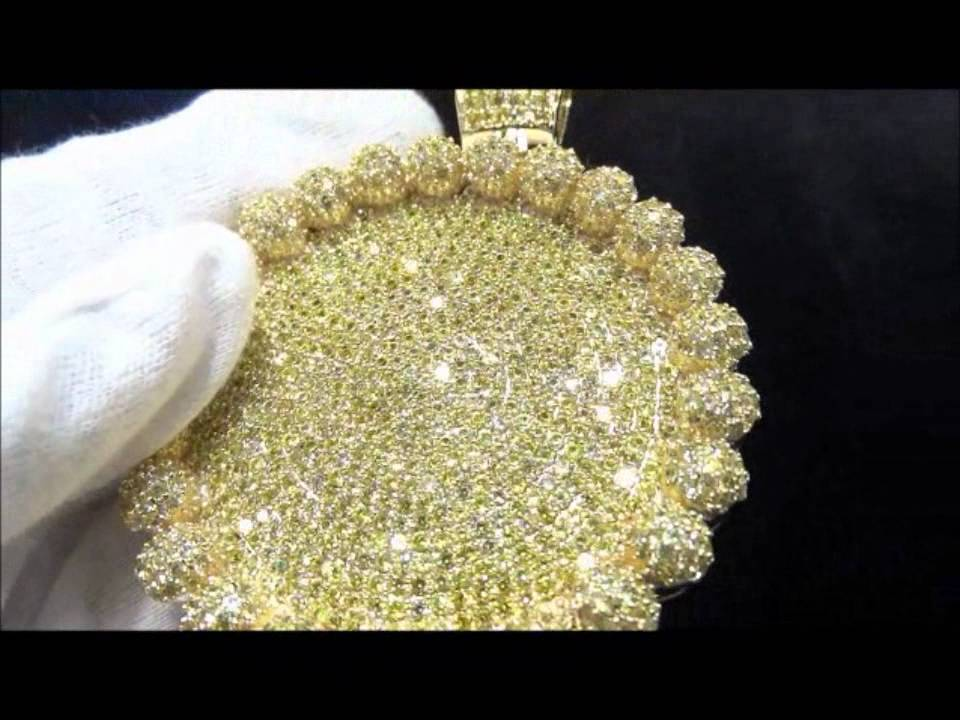 Master Of Bling Custom Lab Simulated Diamond Circle With Beads