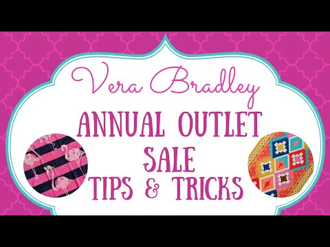 Vera Bradley Annual Outlet Sale Tips