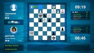 Chess Game Analysis: alammehdi - gee7sakk : 1/2-1/2 (By ChessFriends.com)