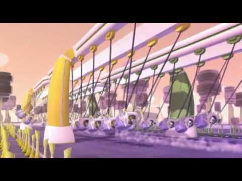 Мультфильм про фиолетового инопланетянина