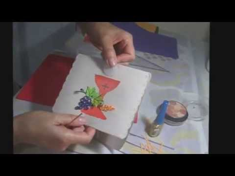 Como hacer un tarjeta primera comunion youtube - Como hacer tarjetas para comunion ...