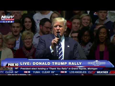 Donald Trump USA THANK YOU Tour Grand Rapids, MI 12092016