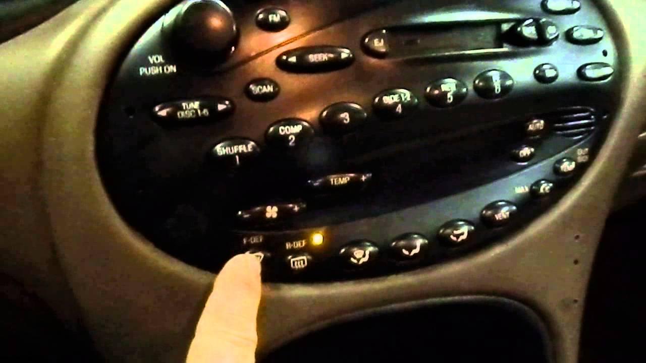 1999 ford taurus start turns radio headlamps