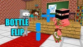 Monster School : BOTTLE FLIP PART 1 AND PART 2 - Minecraft Animation