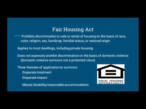 Strategies for Protecting Survivors' Housing Rights