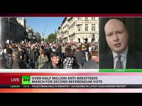 Over half million anti-Brexiteers march for second referendum vote