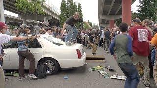 Skateboarders Destroy A Cadillac On Go Skateboarding Day 2018
