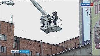 Учения пожарных подразделений Петрозаводска