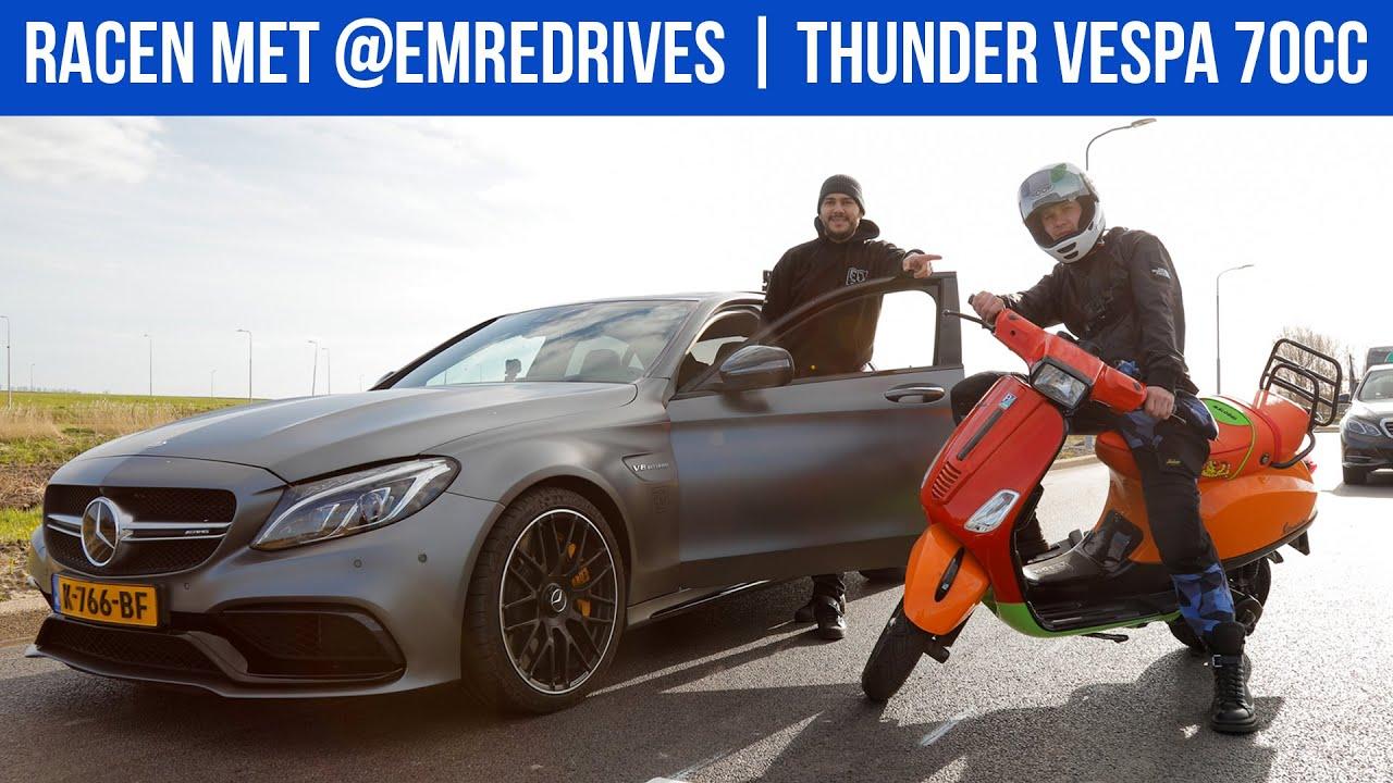 THUNDER VESPA 70CC   RACEN MET @EMREDRIVES