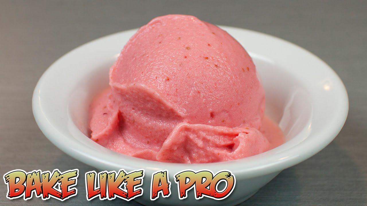 Low fat frozen strawberry yogurt ice cream recipe youtube ccuart Gallery