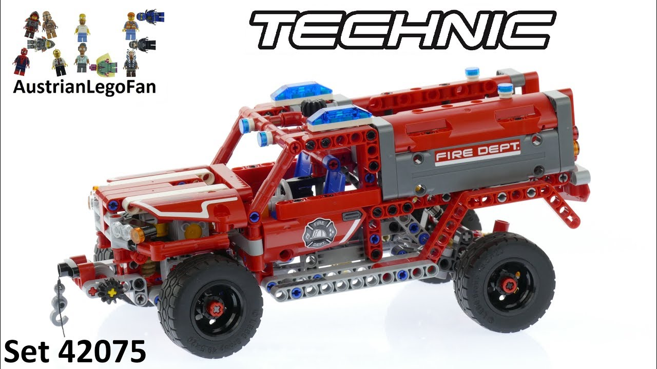 Lego Technic 42075 First Responder Lego Speed Build Review Youtube