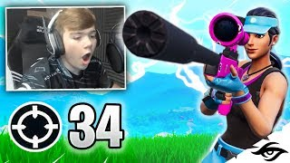 Mongraal | CRAZY NO SCOPE WIN! 34 KILL SOLO VS SQUADS (Fortnite Battle Royale)