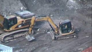 Cat 315D L, 311C LU, 308D CR excavators working