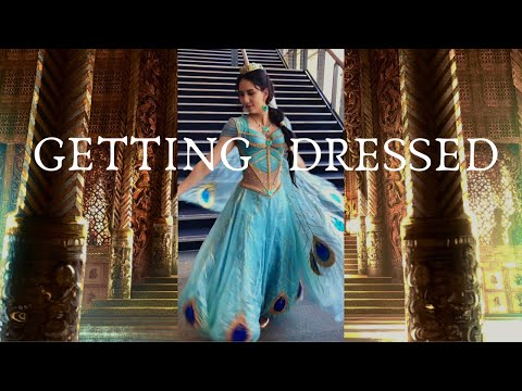 Getting Dressed as Princess Jasmine || Aladdin 2019 Live Action Costume
