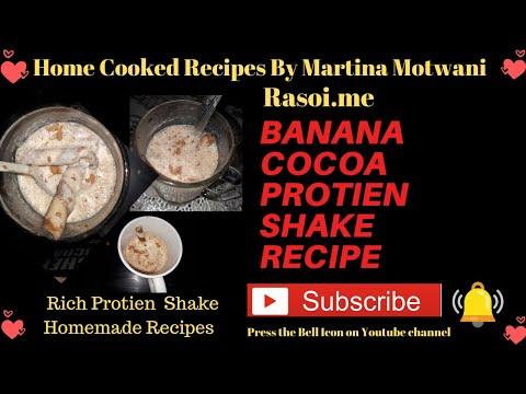 Banana Cocoa Protein Shake instant Recipe Rasoi.me By Martina Motwani