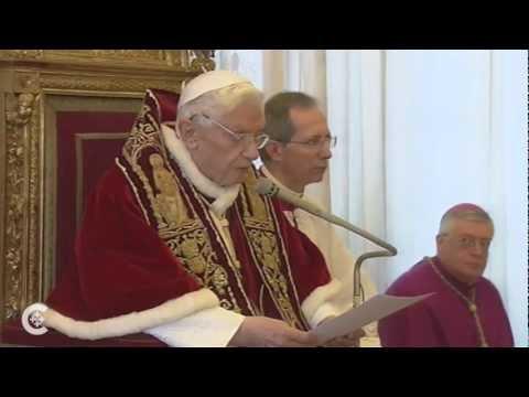 Pope Benedict announces his resignation (see description)