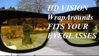 HD Vision WrapArounds Night & Day Sunglasses Fits Your Existing Eyeglasses