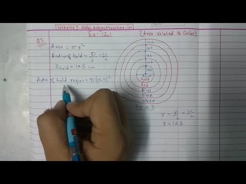 Chapter 12 Exercise 12.1 (Q3) Area related to circles || Class 10 maths