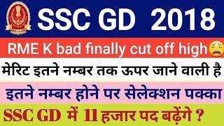 SSC GD  FINAL CUT OFF, SSC GD RME LATEST UPDATE TODAY