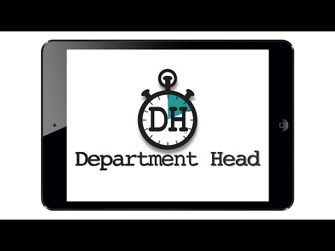 Department Head Tutorial