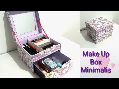 DIY How to make a makeup box minimalis | DIY makeup organizer