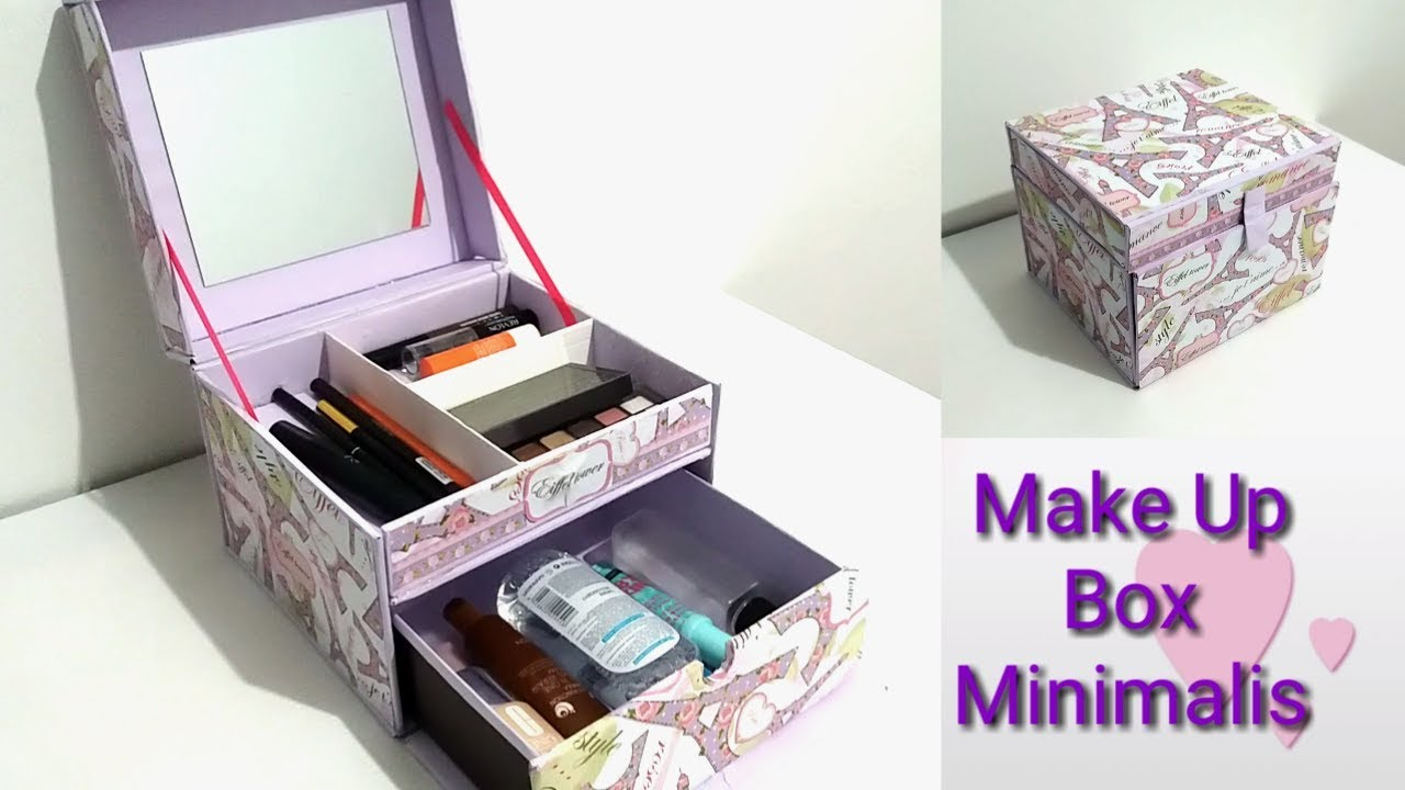 diy how to make a makeup box minimalis diy makeup. Black Bedroom Furniture Sets. Home Design Ideas