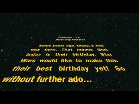Happy Birthday from Star Wars YouTube – Lego Star Wars Birthday Cards