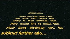 Happy Birthday, from Star Wars