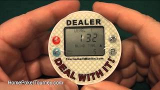 Classic Tournament Dealer Button Review - Poker Dealer Button and Blinds Timer