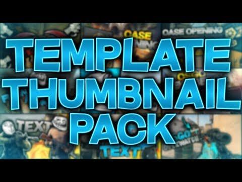 TEMPLATE THUMBNAIL PACK 9 CSGO/ 1 PUBG (+175 LIKE)